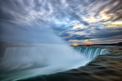 Niagara Falls Sunrise (Explore #34 - Dec 24, 2015) (B.E.K.) Tags: longexposure cloud sunrise river niagarafalls waterfall explore nikond600