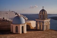 Santorini - Thira - les deux clochers à Firostefani 3 (luco*) Tags: church santorini greece caldera église santorin grèce cyclades thira fira firostefani clochers kyklades hellada flickraward flickraward5 flickrawardgallery