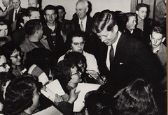 JFK Signs Autographs for Admirers