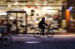 christmas decorations (Patrik hman) Tags: street light motion bike bicycle night cyclist storefront vehicle streetphoto stress boden cyklist fotosondag fs151220 julstamning