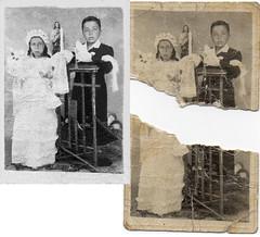 restauracion (noscriptstyle) Tags: chile bw white black photoshop happy gift restoration 2015 restauracion photoshopcc