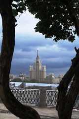 One of the Seven Sisters, a group of seven skyscrapers in Moscow designed in the Stalinist style (Camera Travels - Please read my Profile. Happy to ) Tags: tower sisters russia moscow seven block stalin stalinist