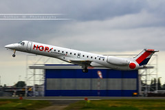 LIL - Embraer 145MP (F-GUBC) Hop! (Aro'Passion) Tags: lil lfqq lille lesquin lillelesquin aropassion airport aircraft airlines dcollage departing 60d aroport takeoff variopositif monteinitiale fgubc hop airfrance hangar embraer 145mp emb natw photography photos