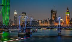 Westminster (aurlien.leroch) Tags: london londres westminster londoneye bigben housesofparliament cityscape night longexposure nikon d3000