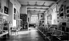 The Library, 2 . (wayman2011) Tags: fujifilmx70 lightroom wayman2011 mono bw architecture library historicbuildings religeousbuildings cathedrals yorkshire northyorkshire ripon uk