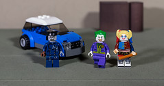 The Joker and Harley found an Uber driver they like (Busted.Knuckles) Tags: home toys lego linco minifigures joker harleyquinn zombie driver car pentaxk3