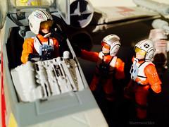 Dorovio Bold welcomed back (Macroworlder) Tags: star wars hasbro disney rebel pilots xwing hangar bay dorovio bold
