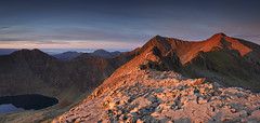 First light on the Snowdon Horseshoe (Nick Livesey Mountain Images) Tags:
