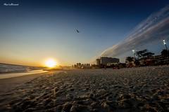 Praia da Barra da Tijuca - Rio de Janeiro (mariohowat) Tags: praiasdoriodejaneiro barradatijuca praiadabarradatijuca fisheye samyang8mm samyang sunset prdosol riodejaneiro natureza brasil brazil