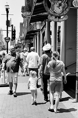 Daddy's Little Girl (TnOlyShooter) Tags: streetphotography nashville tennessee downtown cowboyhat kids family olympusom1 olympusomzuiko50mmf18 kodaktrix400 findlab film analog