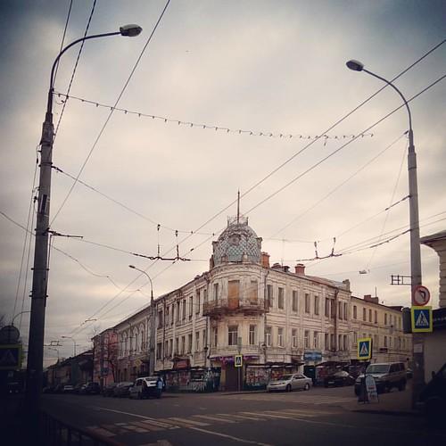 Рыбинские проспекты #город #рыбинск #этнография #небо #sky #autumn #autumncolours