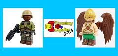 Creations for Charity 2016 - X39BrickCustoms (X39BrickCustoms .com) Tags: lego creations for charity custom printed hawkman edfm halo marine brickarms x39brickcustoms weapons guns legos figs
