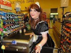 I love Halloween (rgaines) Tags: costume cosplay crossplay drag frenchmaid halloween shopping