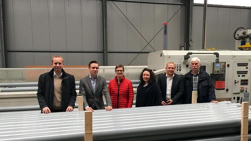 Besuch der Firma KURO in Edewecht mit Bürgermeisterin Petra Lausch und der SPD-Ratsfraktion.