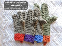 TMNT Mitts 01 (zreekee) Tags: sparkledoomdesigns crochet handmade mitts teenagemutantninjaturtles tmnt gloves