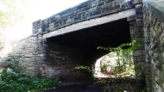 Edinburgh - Leith old railway (Caledonian route)  Pilton Drive overbridge (dave_attrill) Tags: edinburgh haymarket leith caledonian railway disused trackbed granton carstairs lms cycle route path bridleway footpath remains bridge pilton drive