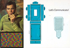 1976 Star Trek birthday card - communicator (Tom Simpson) Tags: startrek papercraft artsandcrafts birthday birthdaycard vintage 1976 1970s card captainkirk communicator williamshatner