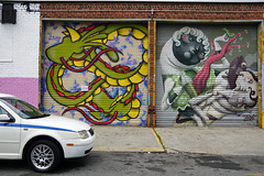 Welling Court Mural Project - Astoria, Queens, NYC (SomePhotosTakenByMe) Tags: auto car usa urlaub vacation holiday nyc newyork newyorkcity america amerika queens astoria mural wandbild kunst art graffiti wellingcourt wellingcourtmuralproject muralproject outdoor dopegate shadesofdragonball sest zed1