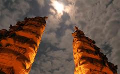 Moonlit Temple (Larterman) Tags: travel travelphotography travelphotos southeastasia south east asia seasia asian bali indonesia indonesian temple moon moonlight moonlit clouds