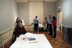 "Montaje de la exposicin temporal ""La moda romntica"" (Museo del Romanticismo) Tags: siglo xix museo del romanticismo moda romntica indumentaria"