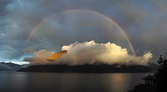 Sunset & Rainbow on Lake Maggiore (ladigue_99) Tags: lakemaggiore piedmont italy italia verbanocusioossola rainbow arcobaleno sunset tramonto cannobio
