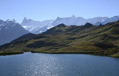 What a wonderful world, is not it? (JohannesMayr) Tags: switzerland schweiz bachalpsee grindelwald first see lake berge mountain berner oberland wasser blau himmel sky blue