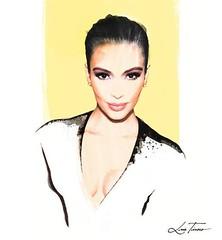 Kim Kardashian by Luis Tinoco (LUIS TINOCO - ILLUSTRATOR) Tags: kimkardashian kardashian illustration illustrator ilustrador ilustracion illustrationluistinocowwwluistinococomfashioneditorialwatercolormagazine illustrations ilustración watercolor acuarela fashion moda celebrity