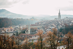 Autumn View (freyavev) Tags: autumn autumnwhimsy autumncolors switzerland schweiz bern berne view cityview cathedral church vsco atmosphere canon canon700d hills rosengarten