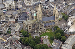 Truro Cathedral aerial image (John D F) Tags: cathedral truro cornwall aerial aerialphotography aerialimage aerialphotograph aerialimagesuk aerialview britainfromabove britainfromtheair