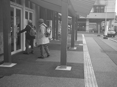 Here is an entrance of the rural station. (-ICHIRO) Tags: street snap agfa sensor 505d toy camera