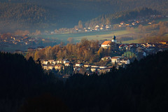 Lam - Bavarian Forest (woodngrass) Tags: lam bavaria bavarianforest gemany bayerischerwald marktgemeinde markettown autumn lastsunlight forest