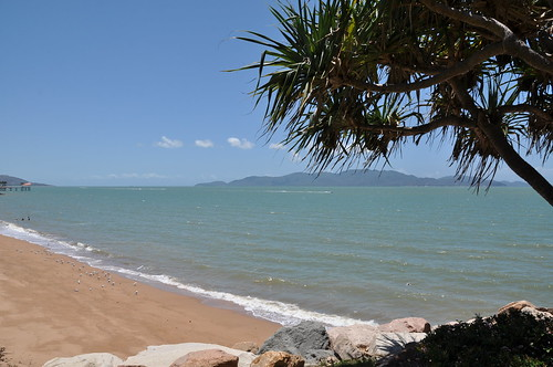 Townsville Strand drenched in the sun