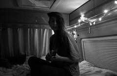 The moving home session (Manuele Balduinotti) Tags: nessuno blackandwhite music ukulele girl