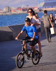 Back Peg Driver (Ctuna8162) Tags: chile antofagasta beach saturday bicycle couple malecon riding