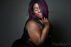 (Cammydoll) Tags: woman lady bbw minibbw black brown dark skin sexy smooth lips pink makeup purple hair braids mature model