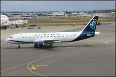 SX-OAU Airbus A320-214 olympic Air (elevationair ) Tags: london heathrow londonheathrow lhr egll airliners airlines avgeek aviation airplane plane aircraft olympic olypicair airbus a320 airbusa320214 sxoau