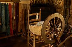 Textiles and spinning wheel (Tim Ravenscroft) Tags: spinningwheel wool textile cabin blueridgemountains virginia usa