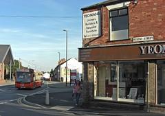Trent Barton 802, Regent Street, Ilkeston, Derbyshire (Lady Wulfrun) Tags: orange bus derbyshire ad arc 15 cider august regentstreet advert passing 12th 2012 ilkeston 802 yeomans nottinghamroad littlewick wrtl trentbarton my15 yj11ene