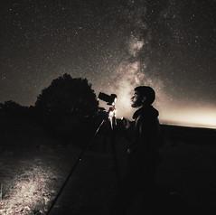 Capturing the Night (RaulHudson1986) Tags: longexposure portrait sky tree nature beautiful night stars landscape photography star blackwhite spain photographer artistic monochromatic galaxy astronomy milkyway castillalamancha 2015 canon6d raulhudson1986