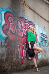 Marion (Charlie Lamare) Tags: portrait woman girl face fashion canon graffiti model colours tag 5d pancake 40mm mode urbain