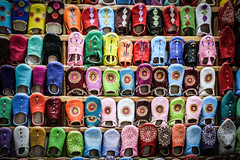 Spoilt for choice (#Weybridge Photographer) Tags: africa slr shop canon eos 350d shoes market northafrica morocco adobe footwear marrakech marrakesh colourful dslr slipper slippers lightroom