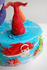 Violet's Mermaid Birthday Cake - Rikki (CharmChang) Tags: ocean birthday fish cake underwater h2o adventures mermaid fondant