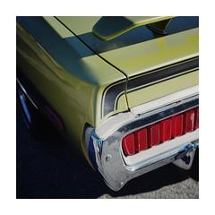 (Ryan Corazzini) Tags: street light green cars car drive paint muscle bumper chrome fujifilm