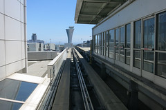 Blue Line (Blinking Charlie) Tags: sanfrancisco california usa blueline sfo terminal airtrain monorail controltower sanfranciscointernationalairport 2015 canonpowershots110 blinkingcharlie