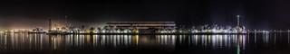 Newcastle Harbour Night Panorama