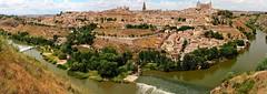 P6140957-P6140959 (simonrwilkinson) Tags: panorama river landscape spain toledo castilelamancha