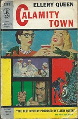 Calamity Town (Covers etc) Tags: fiction vintage design paperback crime cover 1950s pulp bookcover pocketbooks elleryqueen