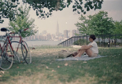(Elena Bertolin) Tags: park newyork film brooklyn analog superia ceci 400 williamsburg fujifilm empirestatebuilding canonae1