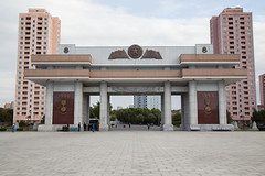 Victorious Fatherland Liberation War Museum gate in Pyongyang (bvoneche) Tags: kp pyongyang coredunord