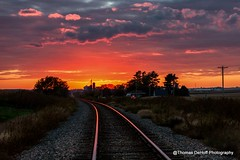 Rails into the sunset (Thomas DeHoff) Tags: sunset colorful sony iowa railroads a700